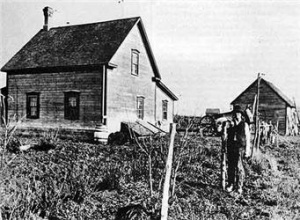 Métis farmers established in St. Paul des Métis, ca. 1902