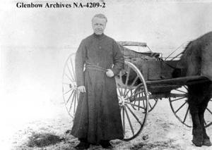 Father Albert Lacombe in Alberta, 1884