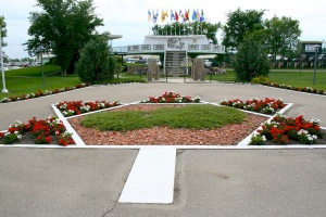The now famous UFO landing pad in Saint Paul, Alberta, 2009