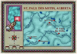Map of Saint Paul des Métis, Alberta