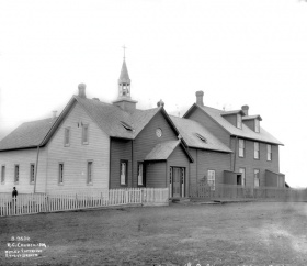 Église Saint-Joachim 1884. The Provincial Archives of Alberta.