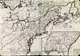 Map of French and English claims in Canada and part of Louisiana, 1756.