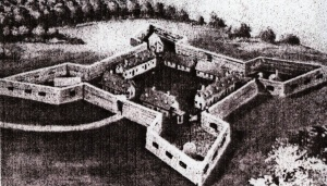 Drawing of Fort de Chartres taken from the Neal Strebel Collection.