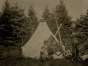 Montagnais family at Tadoussac, 1895