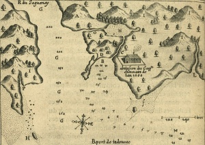 Map of the port of Tadoussac, 1613