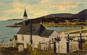 Indian Church, Tadoussac, Quebec