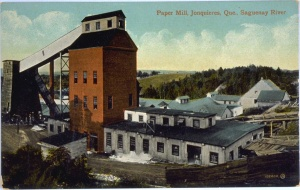 Paper Mill, Jonquieres, Que. Saguenay River