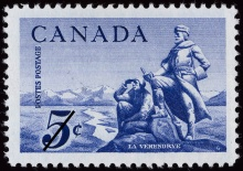 La Vérendrye stamp, BAC