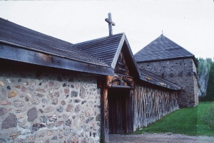Sainte-Marie-among-the-Hurons, the main entrance of the reconstructed mission