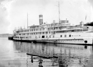 Saguenay ship, from the Canada Steamship Lines, at Chicoutimi, 1928