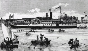 Steamship «Bertnier» at Sorel, July 1871
