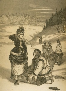 Out in snowshoes, 1871.