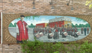 Mural of Father Barrette, Vanier, Ottawa, painted in 2001