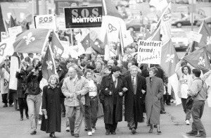 Protest march during Opération S.O.S. Montfort, March 22, 1997