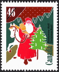 Stamp with the Image of Santa Clause, Canada.