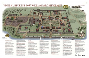 Site map of Fort William Historical Park.