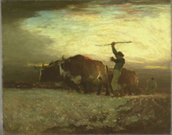 Horatio Walker, Ploughing, the First Gleam at Dawn, 1900, MNBA
