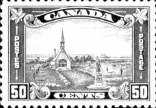 1930 stamp representing the Grand-Pré site © Canada Post Corporation (1958)