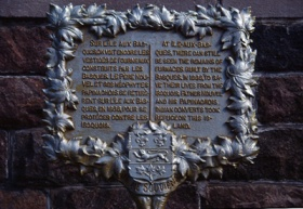 Plaque commémorative.