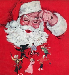 Détail de la couverture du catalogue de Noël Eaton, 1959. © Archives publiques de l'Ontario. Fonds T. Eaton co.