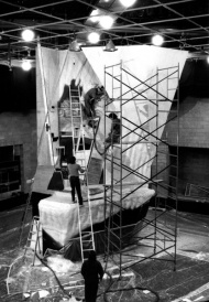 K2 by Patrick Myers: the mountain in construction in the Salle Pauline-Boutal (1985)