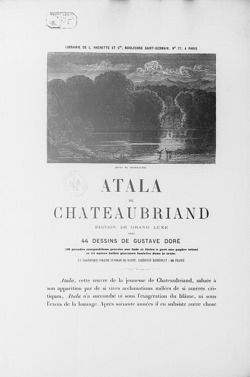 dissertation atala chateaubriand Fray servando teresa de mier to translate the atala of françois-rené de chateaubriand (the atala was set in wrote a dissertation against constantin.